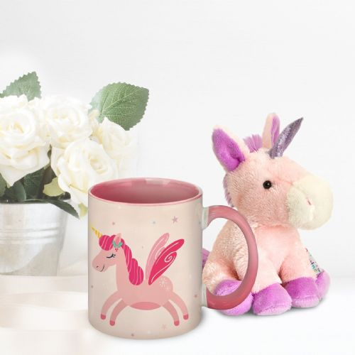 Personalised Magical Christmas Mug & Unicorn Teddy